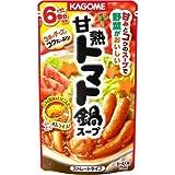カゴメ 甘熟トマト鍋スープ 750g ×4セット