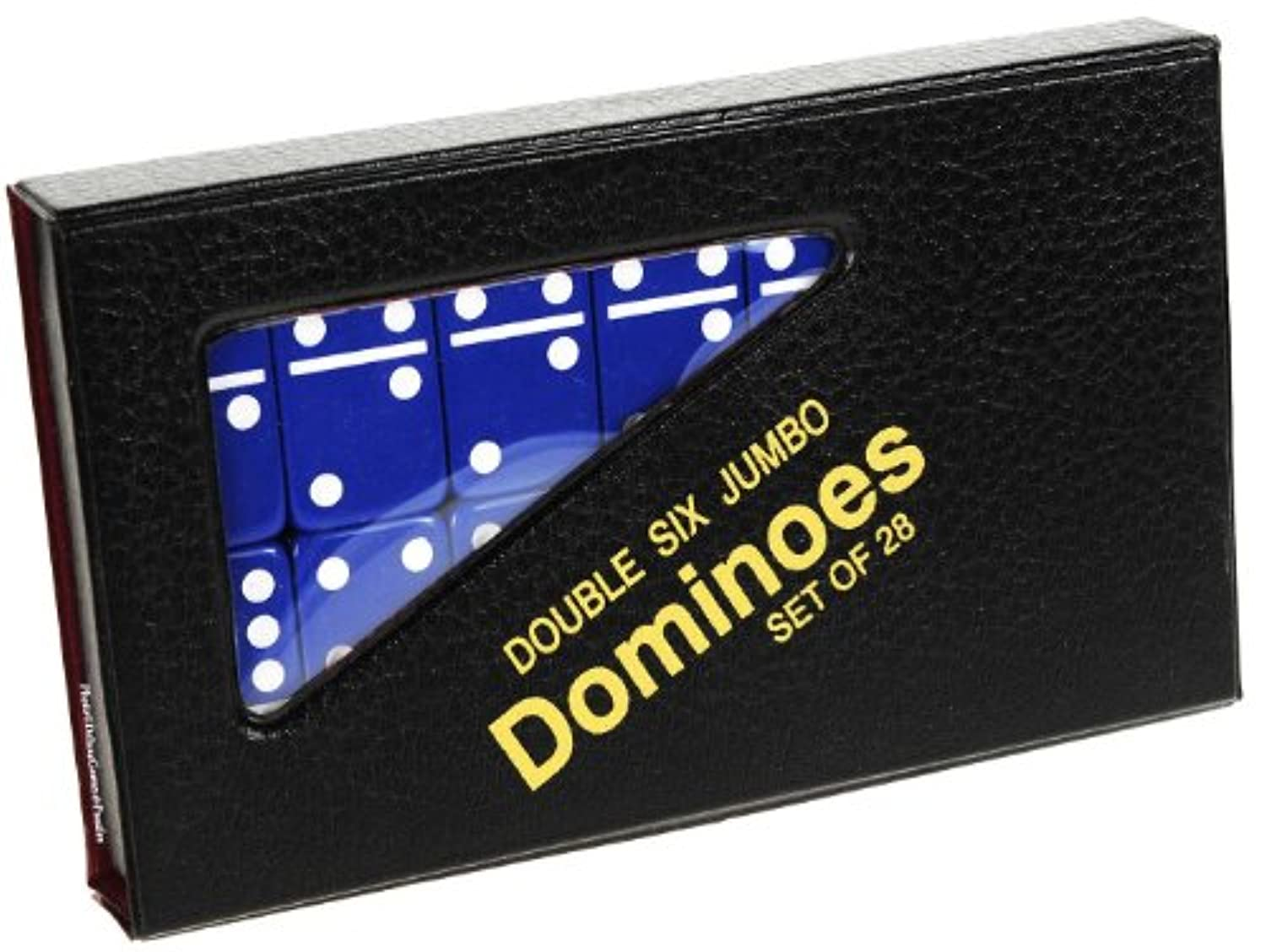 Dominoes Jumbo BLUE with White Pips _ Double Six Set of 28 dominoes