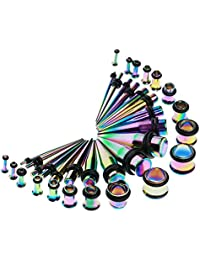 MagiDeal 36 Pieces Stainless Steel Ear Piercings Jewelry Unisex Suits Gift For Friend