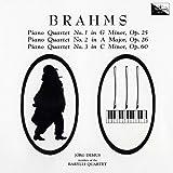 ブラームス:ピアノ四重奏曲第1番、第2番、第3番