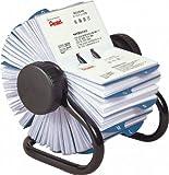 ローロデックス ローロデックス400 ブラックメタルフレーム、ロータリー式回転名刺入れ、スリーブ枚数200枚、インデックスタブ(50音44枚、アルファベット24枚、未記入10枚)付き IRBC400