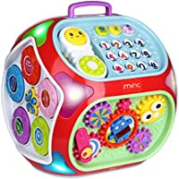 Miric Baby Activity Cube Centre House, 7 in 1 Electronic Baby Learning Educational Toys Musical Toys for Kids 18M+