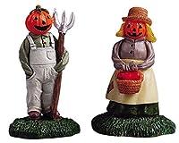 Lemax Spooky Town村Mr。& Mrs Pumpkin 2ピースFigurineセット# 52125