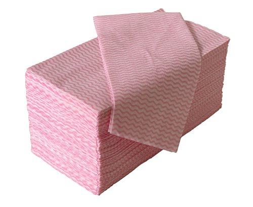 ストリックスデザイン 使いきりカウンタークロス ピンク 1パック 100枚