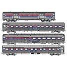■【KATO/カトー】(106-3522)アムトラック フェーズ I 客車4両セット 鉄道模型 外国車両 Nゲージ