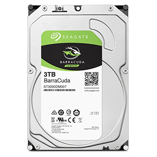 Seagate 内蔵ハードディスク 3.5インチ 3TB PCユーザー向け BarraCuda ( SATA 6Gb/s / 5400rpm / 2年保証 ) 正規代理店品 ST3000DM007/A