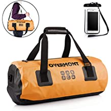 Overmont 20L Dry Bag Waterproof Bags with Phone Dry Bag 500D PVC and Long Adjustable Shoulder Strap for Boating, Kayaking, Fishing, Rafting, Swimming, Camping and Snowboarding