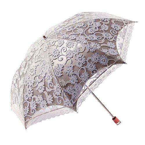 [Enerhu] 折りたたみ傘 日傘 レディース レース日傘 刺繍 紫外線対策 ...