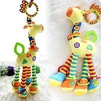 wangxiyanベビーコットン鹿動物モデル手ベルリングRattle Kid Plush Soft Toy