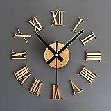 3D 手作り 家居の現代 DIY 壁掛け 時計 ウォールステッカー 時計 ローマ数字 掛け時計 Z072