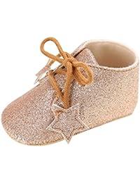 Vacally 2018新製品 赤ちゃん 男の子 女の子 スター 金属サンドスパンコール 無地 ベビーシューズ 幼児用靴 コットン ノンスリップ ソフト ファッション かわいいToddler shoes