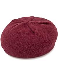 ベレー帽 ウール 帽子 秋冬 シンプル ワンカラー 単色 タック レディース milsa バスクTuckベレー帽