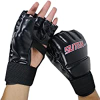 Lookatool Cool MMA Muay Thai Training Punching Bag Half Mitts Sparring Boxing Gloves Gym