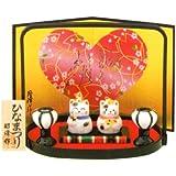 豆猫雛 出産祝 陶器 桃の節句 雛祭 内祝 誕生日 お雛様 お雛さま おひな様 雛人形 ひな人形
