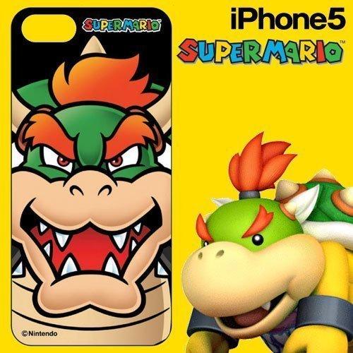 スーパーマリオ iPhone5 専用 DECORE WEAR for iPhone5 ハードカバー スーパーマリオ02 クッパフェイス5H