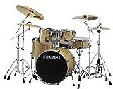 YAMAHA ドラムセット SBP0F5ZBT18-NWナチュラルウッド ステージカスタム 20BD/スタンダードセット+ジルジャンZBT 3シンバルセット