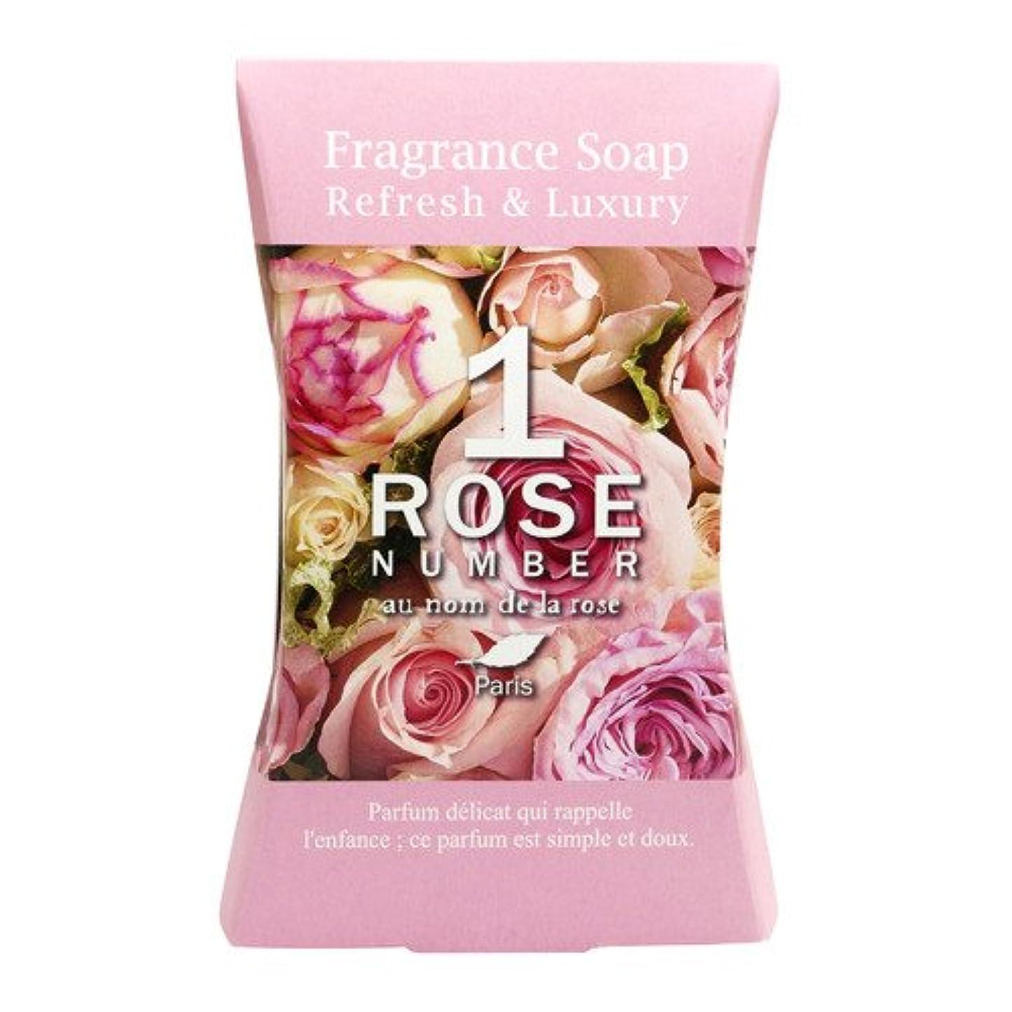 赤道配当元気ROSE NUMBER ソープバー NO1 ピュアなバラの香り (100g)