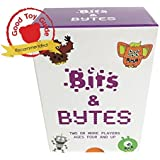 Bits and Bytes Coding Game for Kids   The innovative card game and STEM toy. Teaches children the fundamentals of computer programming ● Ages 4-9 ● Fun for boys and girls. A great learning gift