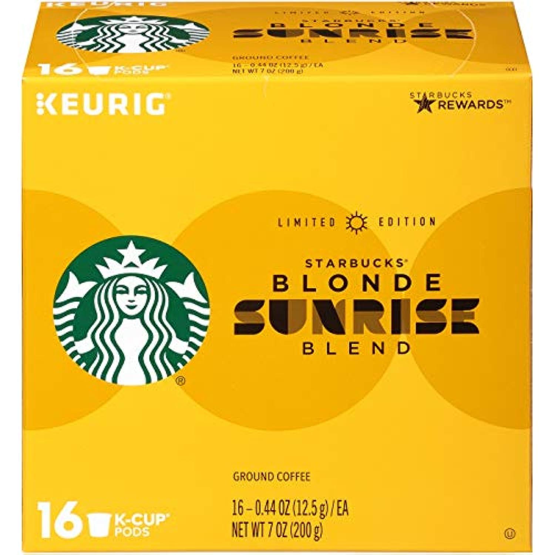 Starbucks Sunrise Blonde Light Roast Coffee Keurig K-Cup スターバックス日の出ブロンドライトローストコーヒーKカップポッド16 杯分 [並行輸入品]