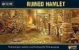Bolt Action Ruined Hamlet 3 Buildings 1:56 WWII ミリタリーウォーゲーミングジオラマプラスチックモデルキット