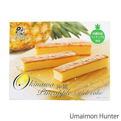 沖縄 パイナップルスティックケーキ 6個入×4箱 ナンポー 沖縄県産パインで作った1口サイズの可愛いケーキです 個包装 バラマキ 沖縄土産
