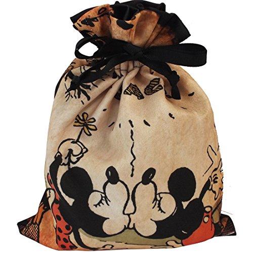 ディズニー ミッキーマウス トラベル巾着 ちゅっ! APDS2450