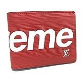 LOUIS VUITTON (ルイ・ヴィトン)LOUIS VUITTON M67717 ルイヴィトン×シュプリーム ポルトフォイユ・スレンダー 17aw Z.ORG.SP 二つ折り財布(小銭入れなし) エピレザー ユニセックス 新品