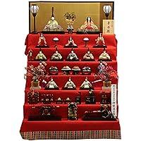 雛人形 七段飾り木目込み十五揃 華園雛1306 幅105cm 3mk102 真多呂