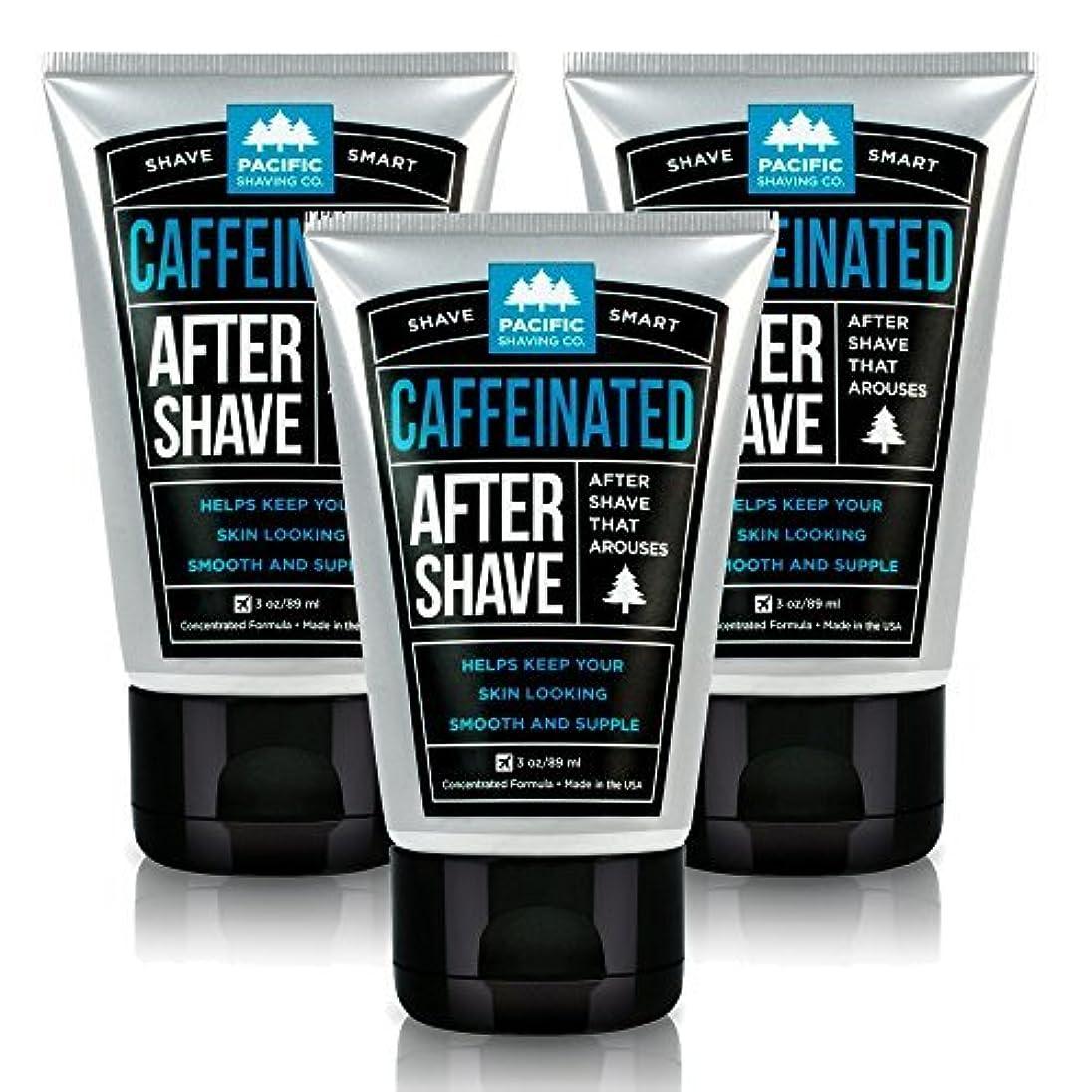 シャトル再生的信頼できるPacific Shaving Company Caffeinated Aftershave 3 Pack [並行輸入品]