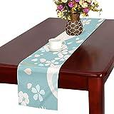 LKCDNG テーブルランナー カラフル 美しい 和風のつる クロス 食卓カバー 麻綿製 欧米 おしゃれ 16 Inch X 72 Inch (40cm X 182cm) キッチン ダイニング ホーム デコレーション モダン リビング 洗える