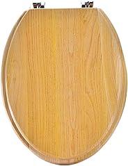 Combank 便座 木製 洋式 トイレ便座 DIY 賃貸アパート 事務所 自宅をリフォーム (V型)