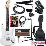 SELDER セルダー エレキギター ストラトキャスタータイプ ST-16/WH VOX amPlug2【アンプラグ2 AP-AC(AC30)】サクラ楽器オリジナルセット