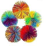 Kingsie クッシュボール 60mm 5個セット レギュラーサイズ シリコーンゴムボール マルチカラー おもちゃ ストレス解消