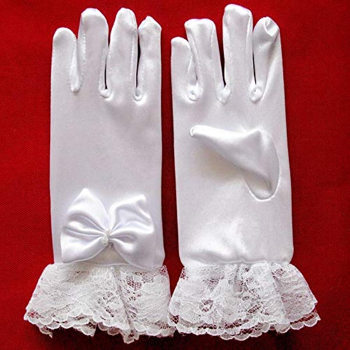 知覚できる食い違いファンWTYDスポーツ用品 スタイリッシュな白いレースの女の子パフォーマンス手袋スウィートパーティーキッズ手袋コスチュームアクセサリー スポーツのために使用されます