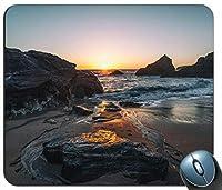Rocky Sunset、コーンウォールカスタマイズマウスパッド長方形マウスパッドゲーミングマウスマット