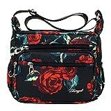 JAGETRADE 女性のためのナイロンクロスボディ財布旅行ショルダーバッグマルチポケットメッセンジャーハンドバッグ