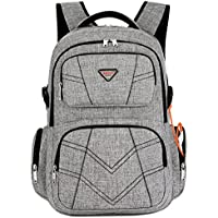 SOCKO 17.3 Inch Shockproof Laptop Backpack with USB Port/Roomy Lightweight Water Resistant Business Travel Bag/Multi-Functional Casual Daypack Bookbag School Bag College Back Pack,Grey