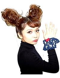 ココモノママニ cocomonomamani 日本製 レディース 上質 髪留め シュシュ クマくんの惑星シュシュ