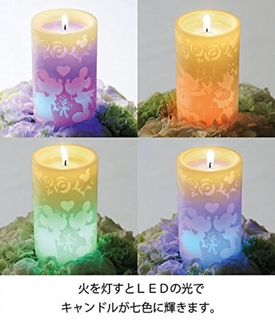 不快読み書きのできないシロクマkameyama candle(カメヤマキャンドル) ミッキー&ミニーLEDピラー(A4970000)
