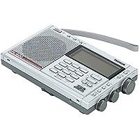 TECSUN PL-600 SSB ハイエンド短波ラジオ ポータブルBCL受信機 FMステレオ/LW/MW/SW PLLシンセサイザー ワールドバンドレシーバー 600局プリセットメモリー デュアルコンバージョン ATSオートプリセット スリープタイマー アラーム 高音質大口径スピーカー (シルバー)