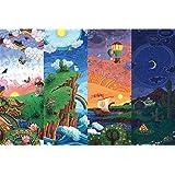 IMAX® カラフルなアート木製の美しい日の出と日没1000ピース30×20インチパズルジグソーパズル、大人の余暇減圧玩具完成サイズ30×20インチ