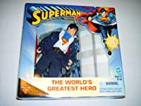 "The Worlds Greatest Hero SUPERMAN / CLARK KENT 8"" Action Figure (2000 Hasbro)"