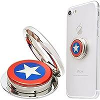 MARVEL Design Ring スタンドにもなる落下防止用スマートフォンリング マーベル 人気キャラクター スマホリング キャプテン・アメリカ