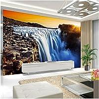 Xbwy 3Dウォールミューラルの壁紙自然の風景ビッグ・リバーの滝カスタム3D写真の壁紙のホーム-250X175Cm