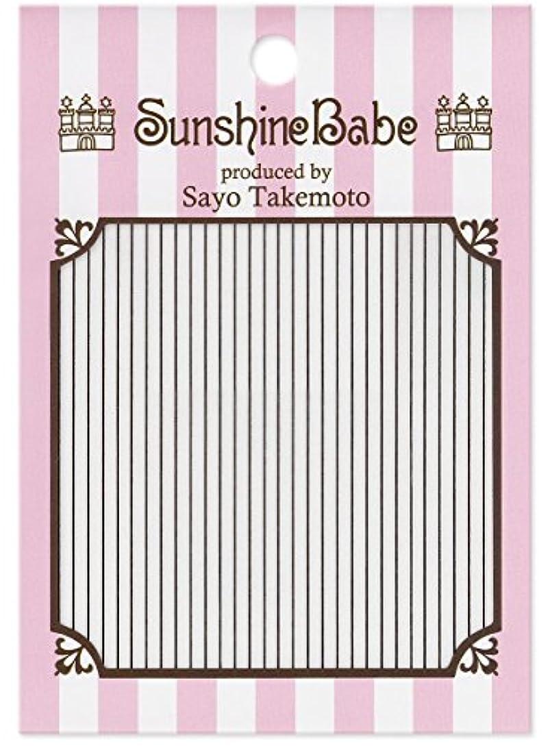公式トレイセットするサンシャインベビー ジェルネイル 武本小夜のネイルシール Sayo Style ライン ブラック