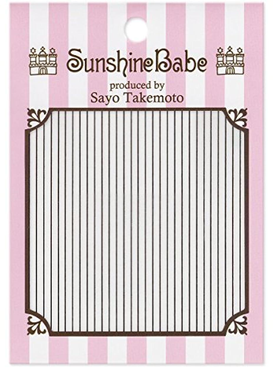 報いる確立しますビクターサンシャインベビー ジェルネイル 武本小夜のネイルシール Sayo Style ライン ブラック
