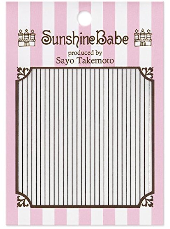本会議等しい工夫するサンシャインベビー ジェルネイル 武本小夜のネイルシール Sayo Style ライン ブラック