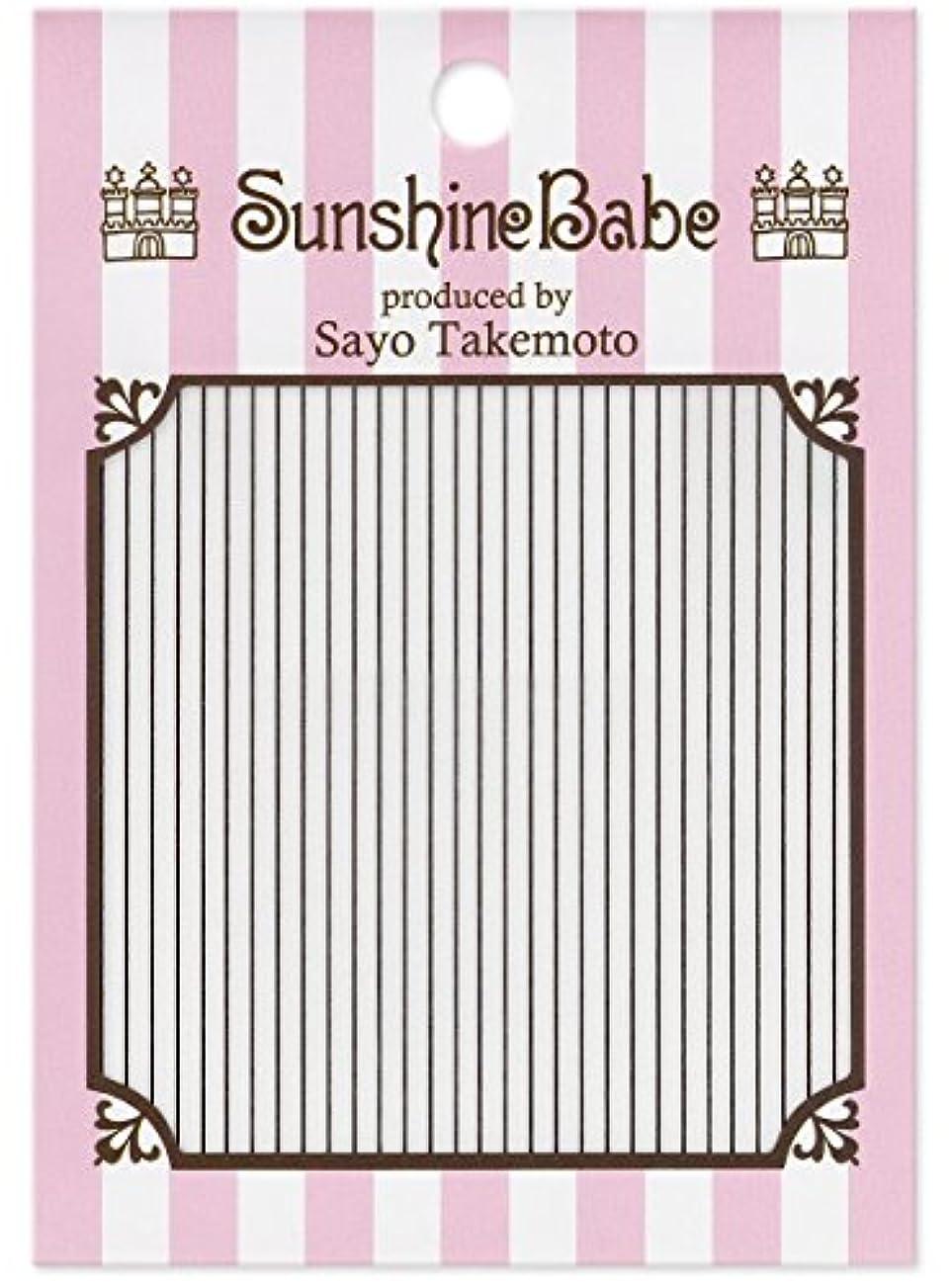 苦しめる赤字本物のサンシャインベビー ジェルネイル 武本小夜のネイルシール Sayo Style ライン ブラック