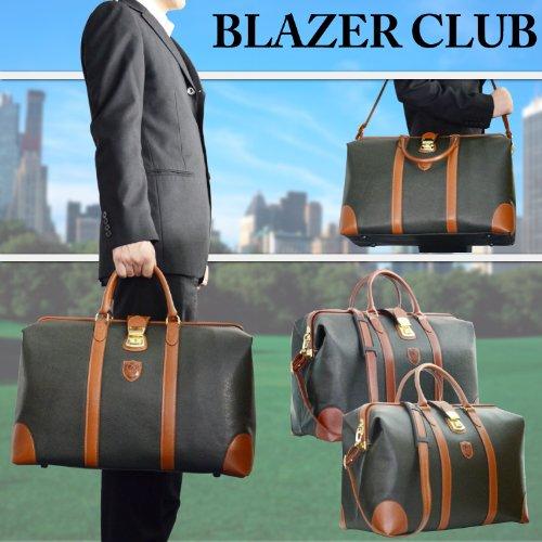 BLAZERCLUB (ブレザークラブ) ボストンバッグ 46センチ ダレスボストン 合皮ボンディング加工 日本製 10358-02 カーキ