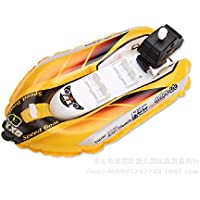 RaiFu スプリング船 スプリングレースボート 模擬 インフレータブル 時計レースボート 子供 海 水泳 バストイレ プールおもちゃ イエロー